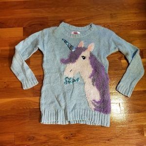 Unicorn justice sweater size 8